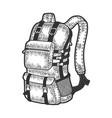 tourist backpack sketch
