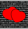 Two red hearts in front of a black background vector image