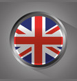 united kingdom flag badge round button vector image vector image
