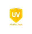 uv protection shield icon sign isolated on vector image vector image