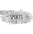 what the future of sports medicine holds text vector image vector image