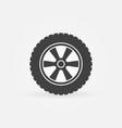 wheel icon - simple symbol vector image vector image
