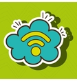 Wi-Fi internet online cloud vector image