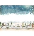 Winter holidays landscape EPS 10 vector image
