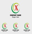 X icon logo letter X vector image vector image