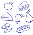 set a morning meal vector image