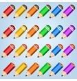Color pencil collection vector image