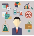 Flat business and finance concepts vector image