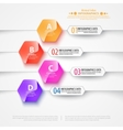Modern infographics bubble speech template style vector image