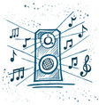 music speakers play music vector image