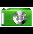 A green digicam vector image vector image