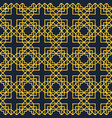 arabic seamless geometric pattern on gold texture vector image vector image