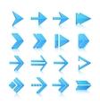 Arrow symbols icons set vector image vector image