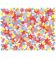background colored stars red blue yellow starry vector image
