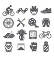 Biking icons vector image vector image