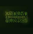 bioenergy banner vector image vector image