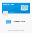 blue business logo template for book education vector image