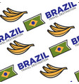 brazil travel destination national flag and banana vector image