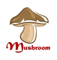 Brown cartooned forest mushroom vector image vector image