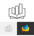 business education logo opened book with graph vector image