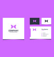 butterfly and girl face logo design with purple vector image