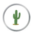 Cactus icon cartoon Singe western icon from the vector image vector image