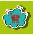 car shop buy online cloud vector image