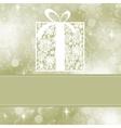 christmas present card vector image