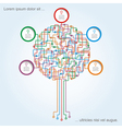 Circuit board tree pattern with place for text vector image