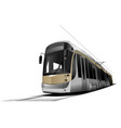city transport tram vector image