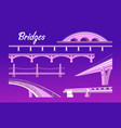 collection of isolated bridges vector image