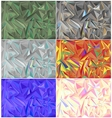 Colorful Geometric Triangle Backgrounds Set vector image vector image
