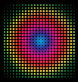 colorful rainbow circle in halftone halftone dot vector image vector image