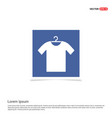 cotton t-shirt icon - blue photo frame vector image vector image
