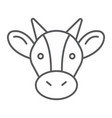 cow thin line icon animal and agriculture cattle vector image vector image