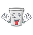 crazy plastic tube bucket in mascot vector image vector image