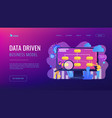 data driven business model concept landing page vector image vector image