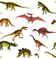 dinosaurs and pterodactyl types of animals vector image
