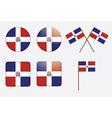 Dominican Republic Flag Badges vector image vector image