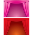 Elegance Red and Pink Curtain vector image vector image