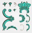 element set with waves vector image
