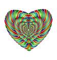 Enamel heart Perspective vector image vector image