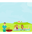 Family Having A Barbecue Party vector image vector image