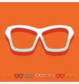 Flat design glasses vector image vector image