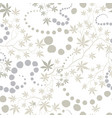 floral pattern with leaves and flowers vector image