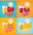 fruit juice retro poster vector image