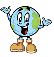 Happy Smiling Globe Character vector image