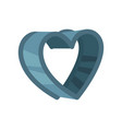 heart shaped pastry cutter vector image vector image