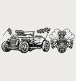 hot rod classic custom car concept vector image vector image