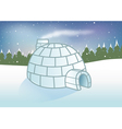 igloo snowy background vector image